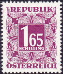 Austria 1950 Postage Due Stamps - Square frame with digit (2nd Group) c