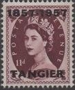 British Offices in Tangier 1957 Centenary Overprint (1857-1957) n