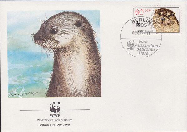 Germany DDR 1987 WWF - European Otter n