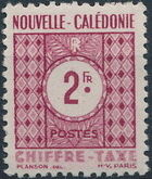 New Caledonia 1948 Numerals (Official Stamps) e