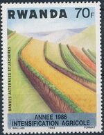 Rwanda 1986 Soil Erosion Prevention (Surcharged and Overprinted) i