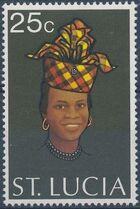 St Lucia 1973 Women's Headdresses c