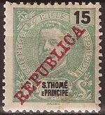 St Thomas and Prince 1911 D. Carlos I Overprinted d