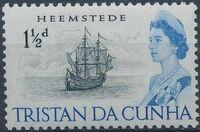 Tristan da Cunha 1965 Queen Elizabeth II and Ships c