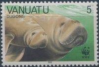 Vanuatu 1988 WWF Dugong a