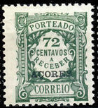 Azores 1922 Postage Due Stamps of Portugal Overprinted (1st Group) f