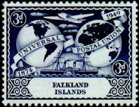 Falkland Islands 1949 75th Anniversary of Universal Postal Union UPU b