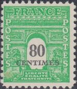 France 1945 Arc of the Triomphe - Allied Military Government e
