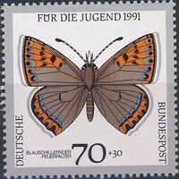 Germany-Unified 1991 Endangered Butterflies d