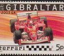 Gibraltar 2004 Ferrari Formula 1 Cars