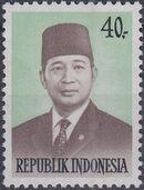 Indonesia 1974 President Suharto - Definitives a