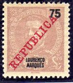 Lourenço Marques 1911 D. Carlos I Overprinted h