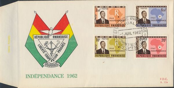 Rwanda 1962 Independence FDCb