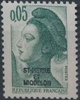 St Pierre et Miquelon 1986 Liberty from France Overprinted ST-PIERRE ET MIQUELON a