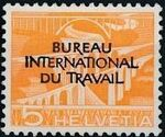 Switzerland 1950 Landscapes and Technology Official Stamps for The International Labor Bureau a
