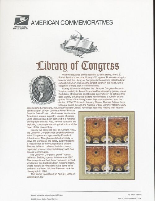 United States of America 2000 Library of Congress ACa