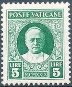 Vatican City 1929 Conciliation Issue l