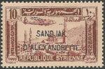 "Alexandretta 1938 Air Post Stamps of Syria (1937) Overprinted ""SANDJAK D'ALEXANDRETTE"" in Red or Black f"