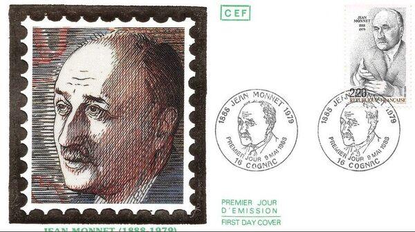 France 1988 Jean Monnet FDCa