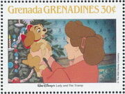 Grenada Grenadines 1988 The Disney Animal Stories in Postage Stamps 5a