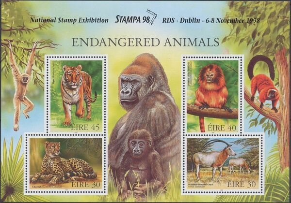Ireland 1998 Endangered Animals x
