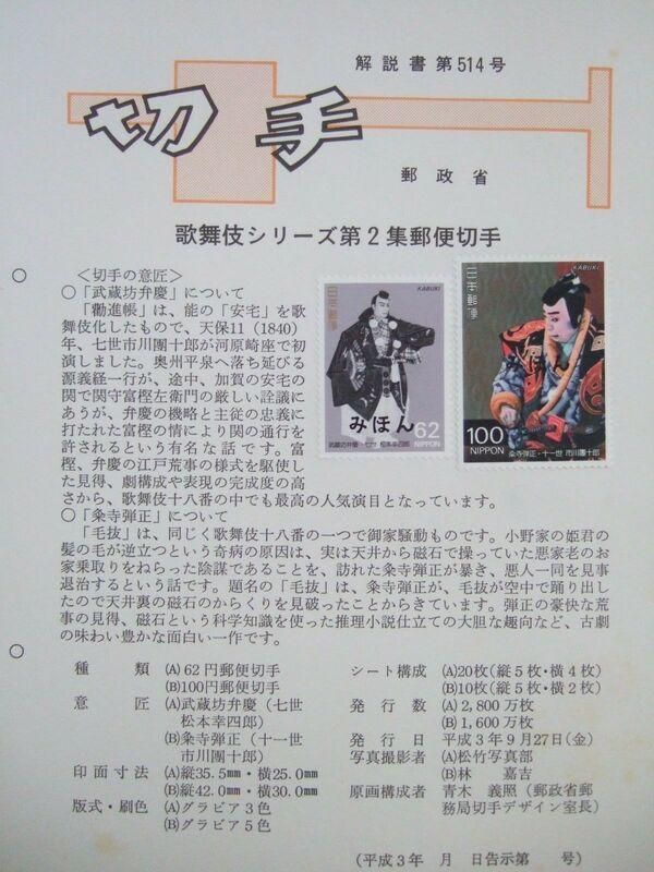 Japan 1991 Kabuki Theatre (2nd Issues) FOLa