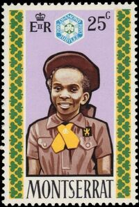 Montserrat 1970 60th Anniversary of Girl Guides c