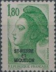 St Pierre et Miquelon 1986 Liberty from France Overprinted ST-PIERRE ET MIQUELON h