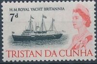 Tristan da Cunha 1965 Queen Elizabeth II and Ships h