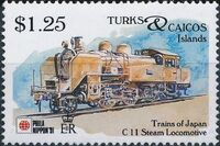 Turks and Caicos Islands 1991 Expo PhilaNippon - Locomotives h