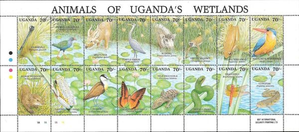 Uganda 1991 Animals of Uganda's Wetlands Sa