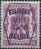 Belgium 1938 Coat of Arms - Precancel (8th Group) b