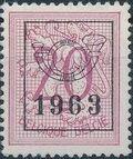 Belgium 1963 Heraldic Lion with Precancellations e