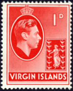 British Virgin Islands 1938 George VI and Seal of the Colony b