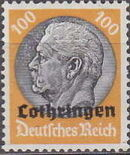 German Occupation-Lothringen 1940 Stamps of Germany (1933-1936) Overprinted in Black p