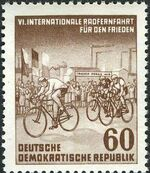 Germany DDR 1953 6th International Bicycle Peace Race c