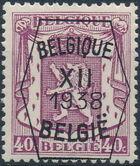 Belgium 1938 Coat of Arms - Precancel (12th Group) e