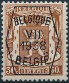 Belgium 1938 Coat of Arms - Precancel (7th Group) d
