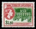 British Virgin Islands 1956 Queen Elizabeth II and Views k