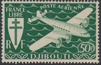 French Somali Coast 1941 Airmail f