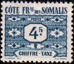 French Somali Coast 1947 Postage Due Stamps g