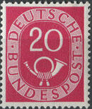 Germany, Federal Republic 1951 Posthorn and Numbers h
