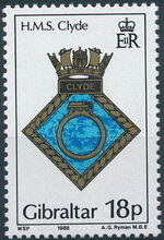 Gibraltar 1988 Royal Navy Crests 7th Group a
