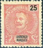 Lourenço Marques 1903 D. Carlos I New Values and Colors b
