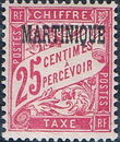 Martinique 1927 Postage Due Stamps of France Overprinted d