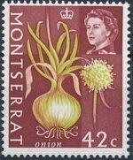 Montserrat 1965 Fruit & Vegetables and Portrait of Queen Elizabeth II l