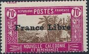 "New Caledonia 1941 Definitives of 1928 Overprinted in black ""France Libre"" r"