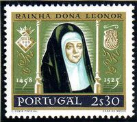 Portugal 1958 500th anniversary of the birth of Queen Saint Leonor c