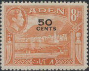 Aden 1951 King George VI Pictorials with New Values g