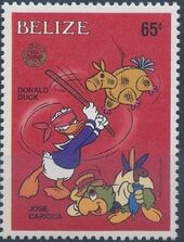 Belize 1986 Christmas - Disney Characters g